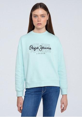 Pepe Jeans Sweater »BERE«, mit grossem dreifachem Marken-Logo-Druck im Brustbereich kaufen