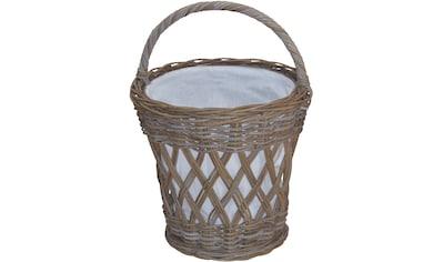 Wäschekorb, aus Rattan mit praktischem Tragegriff kaufen
