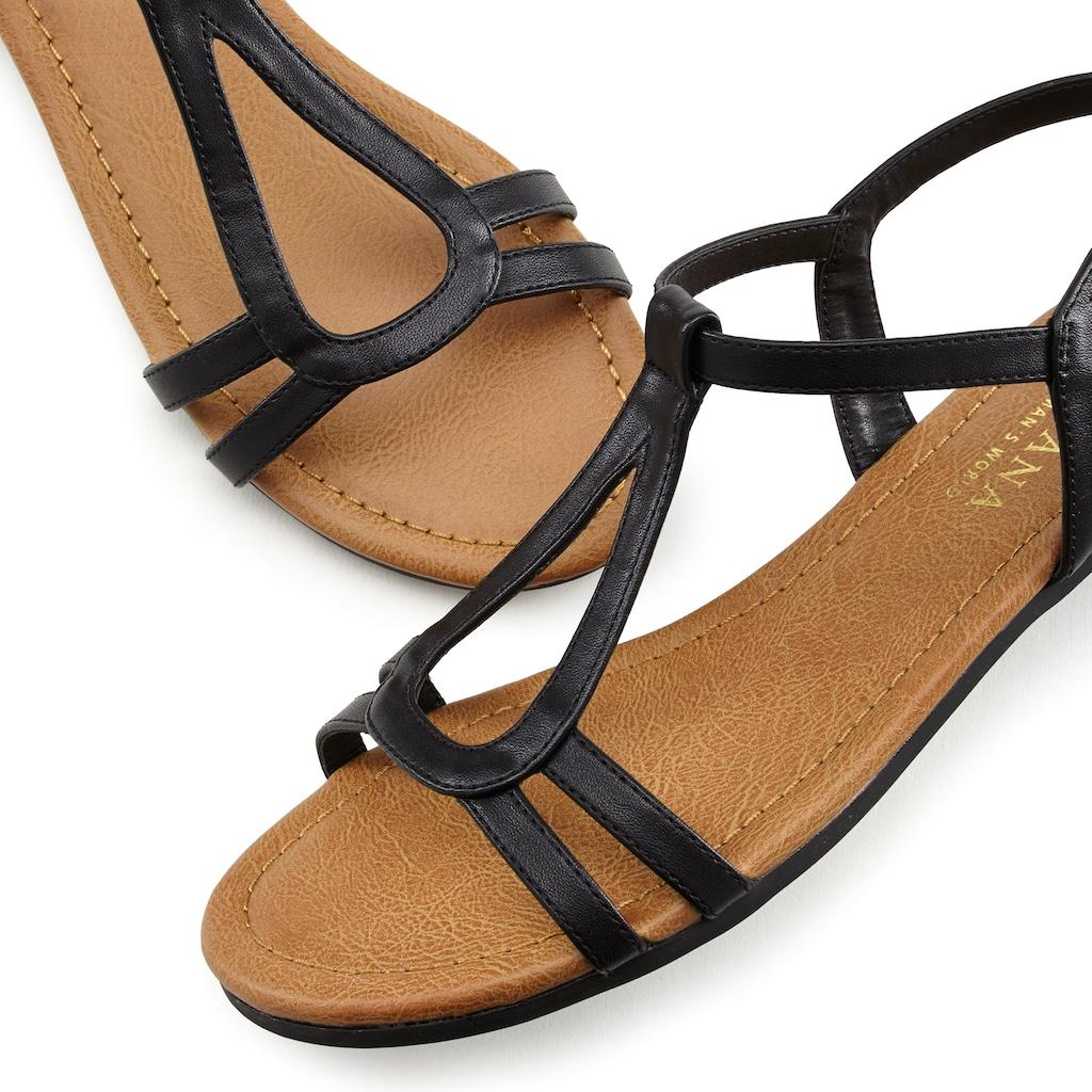 LASCANA Sandale, mit raffinierten Riemchen und im klassischen Design