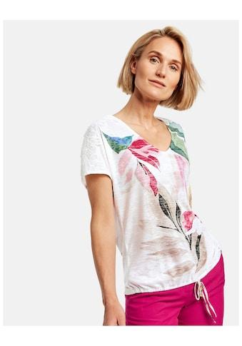GERRY WEBER T - Shirt 1/2 Arm »Blumiges Shirt mit Spitzenbesatz« kaufen