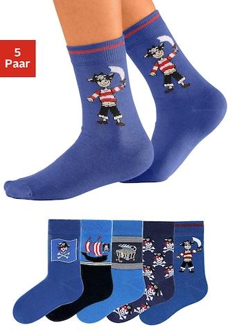 Go in Socken, (5 Paar), mit Piratenmotiven kaufen