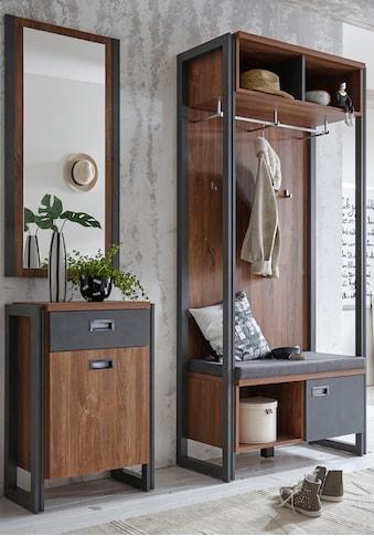 Home affaire Garderobenschrank »Detroit«, 90 cm breit, im angesagten Industrial Look kaufen