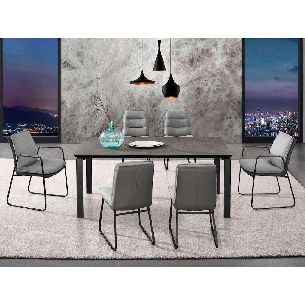 Places of Style Esstisch »Utah«, Gestell aus Metall, Tischplatte in Betonoptik