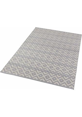 Zala Living Teppich »Alley«, rechteckig, 4 mm Höhe, Flachgewebe, Hoch-Tief-Struktur,... kaufen