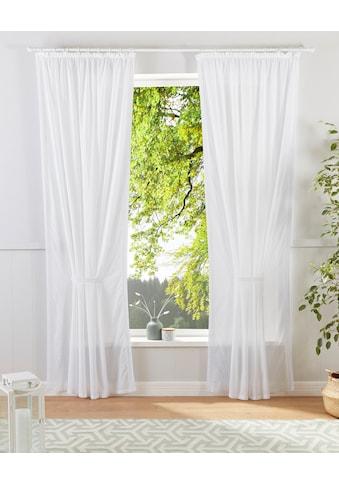 Home affaire Gardine »Vorhang Mit Spitzenkante«, Inkl. 1 Raffband kaufen