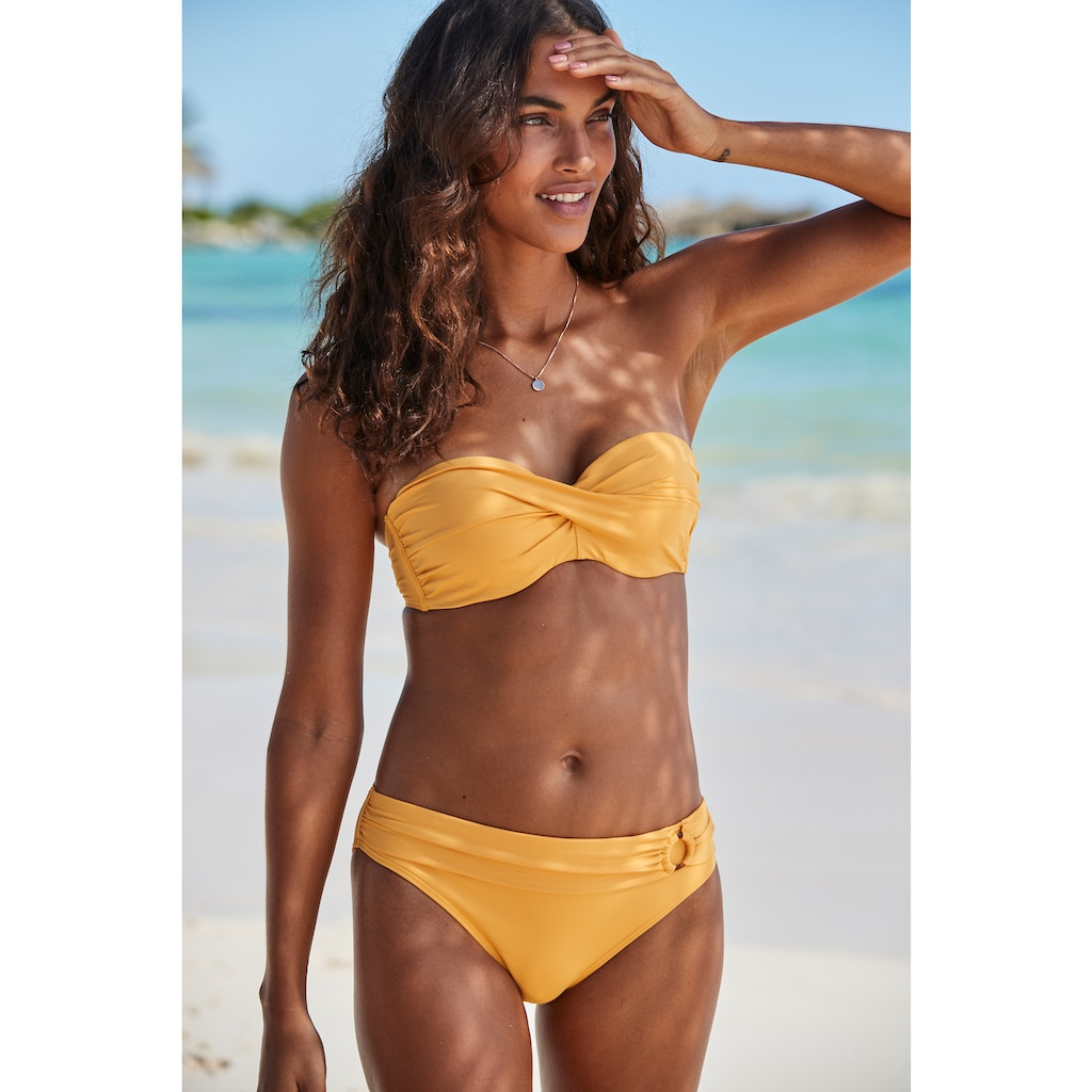 s.Oliver Beachwear Bügel-Bandeau-Bikini-Top »Rome«, in Wickeloptik