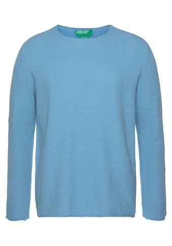 United Colors of Benetton Rundhalspullover, mit Strukturmuster kaufen