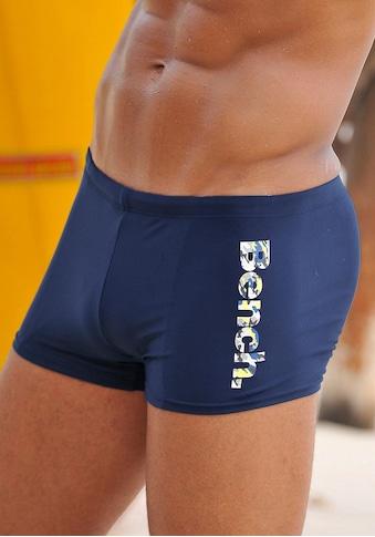 Bench. Boxer-Badehose, mit coolem Logo in Tarnfarben-Optik kaufen