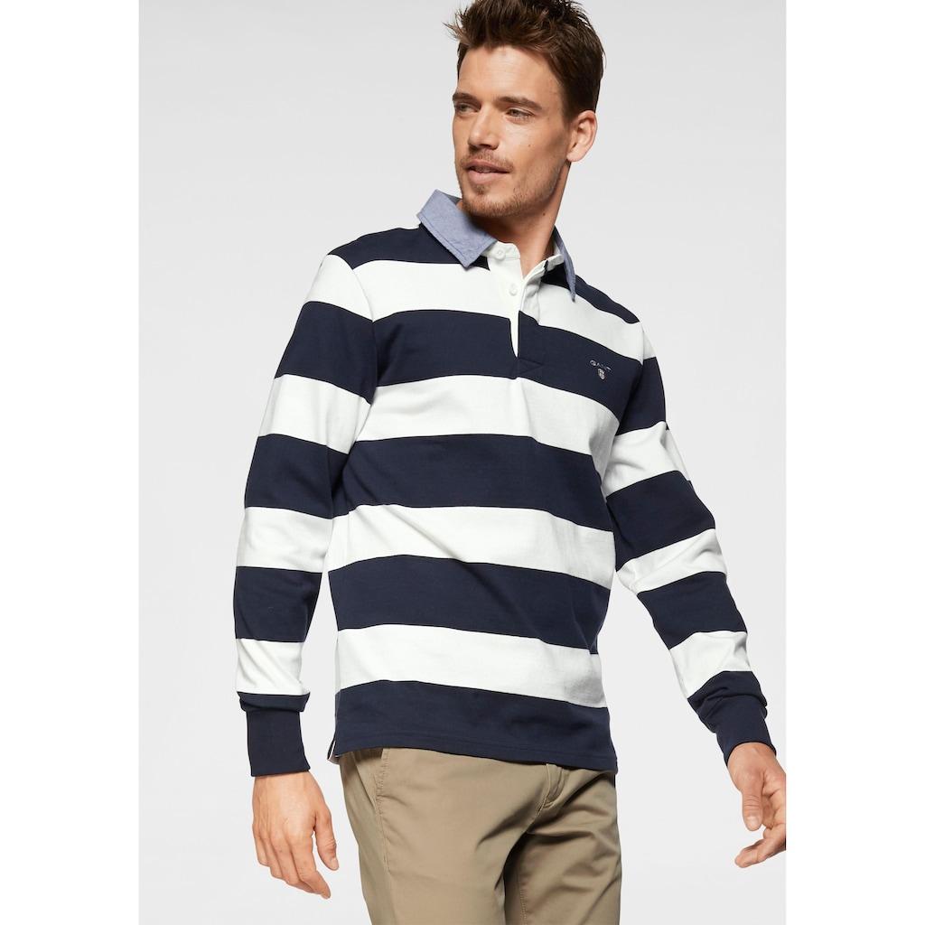 Gant Rugbyshirt »Barstripe Heavy Rugger«, sportiver Alltagsstyle