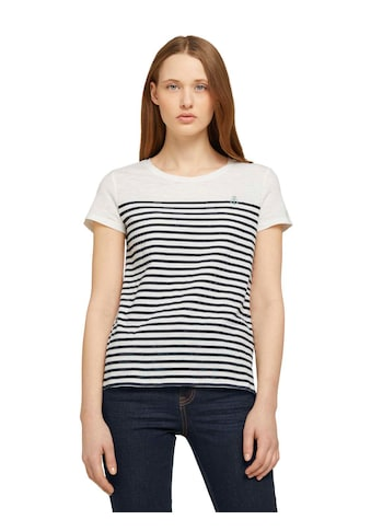 TOM TAILOR Denim T-Shirt, mit kleiner Stickerei kaufen