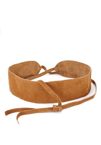 LASCANA Taillengürtel, aus weichem Veloursleder zum Binden kaufen