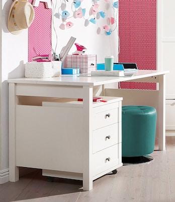 Kinderschreibtisch in Weiß