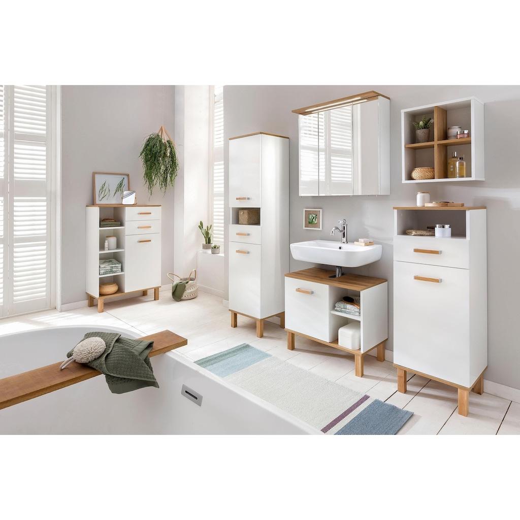 Schildmeyer Waschbeckenunterschrank »Padua«, Füsse aus Massivholz