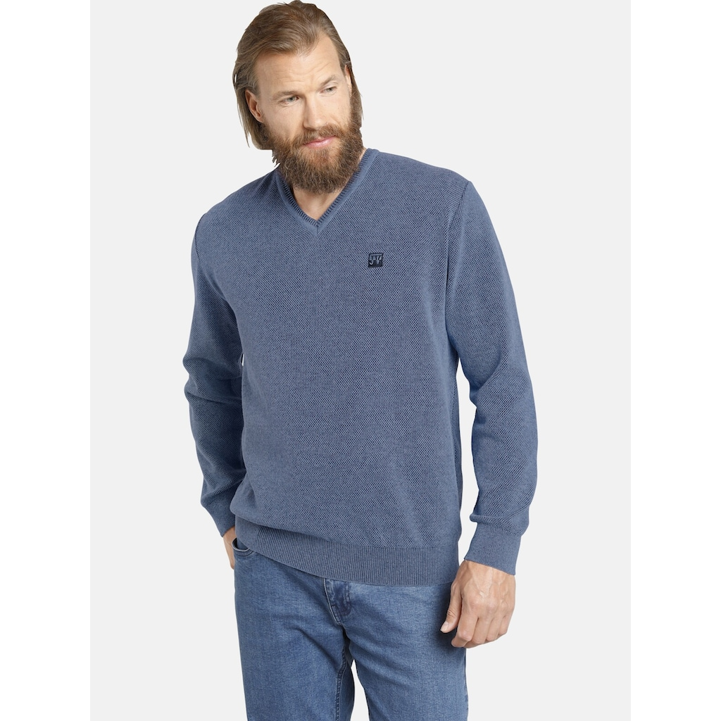 Jan Vanderstorm Strickpullover »KEIMO«, bequemer Basic-Pullover