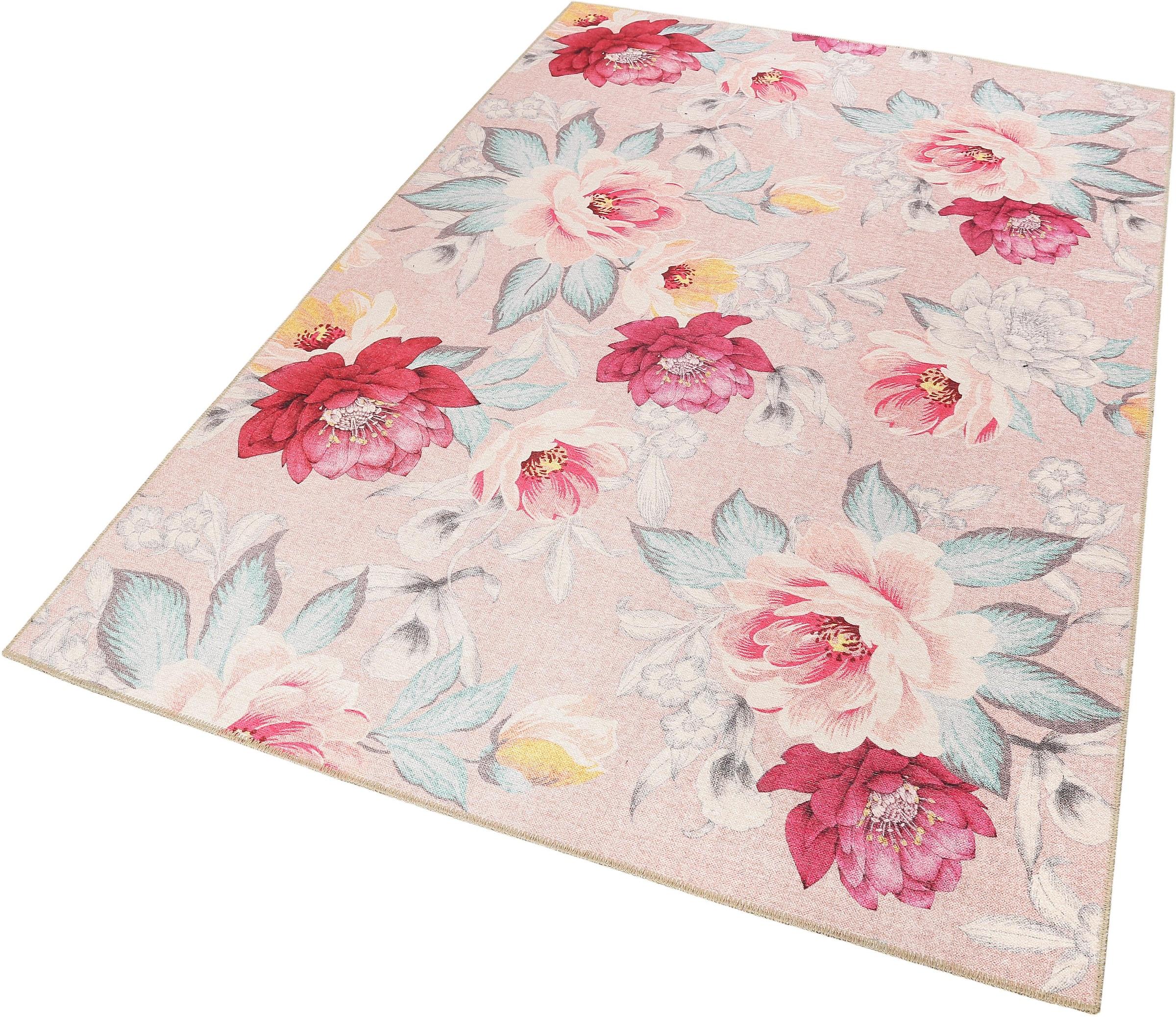 Image of Accessorize Home Teppich »Isla floral«, rechteckig, 6 mm Höhe, Wohnzimmer