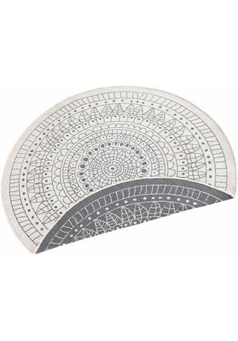 bougari Teppich »Porto«, rund, 5 mm Höhe, In- und Outdoor geeignet, Wendeteppich, Wohnzimmer kaufen