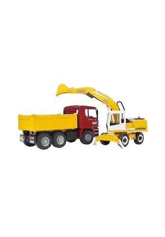 Spielwaren Baustellenfahrzeug, Bruder, »Kipplastwagen & Schaufelbagger« kaufen