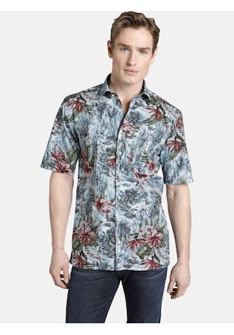 SHIRTMASTER Kurzarmhemd »allmydragons«, mit exotischem Blütendruck kaufen