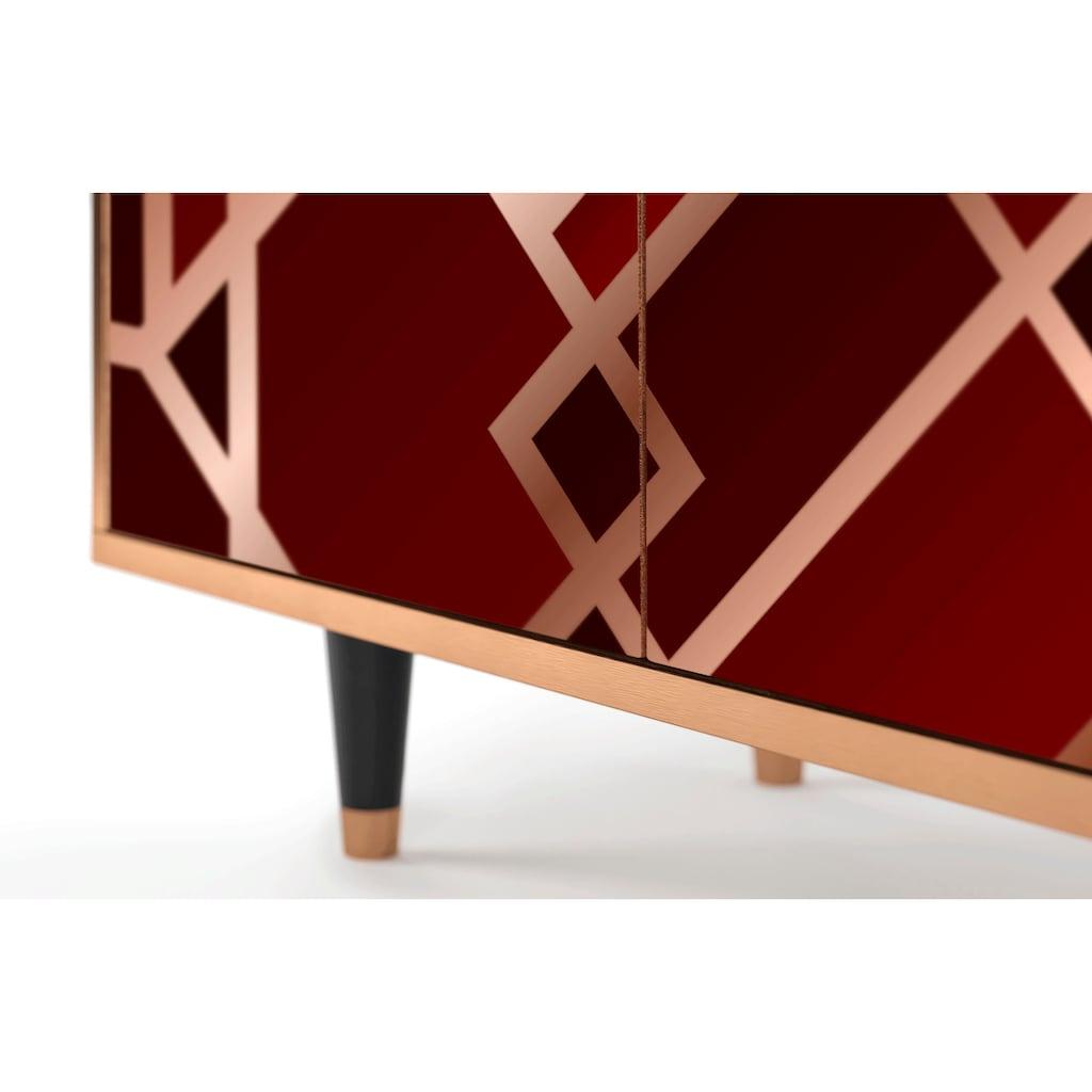 Places of Style Kommode »Velvet«, mit dekorativem Print auf den Türen