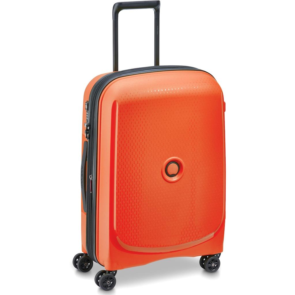 Delsey Hartschalen-Trolley »Belmont Plus, 55 cm, orange«, 4 Rollen, slim line