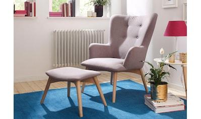 Home affaire Sessel »New York«, mit Hocker, Breite 75 cm, unifarben kaufen