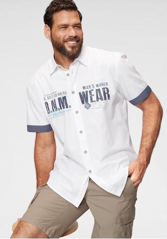 Man's World Kurzarmhemd, mit Chambray-Einsätzen kaufen