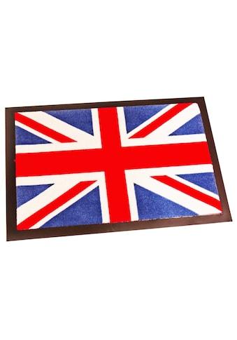 HANSE Home Fussmatte »Union Jack«, rechteckig, 8 mm Höhe, Schmutzfangmatte, waschbar kaufen