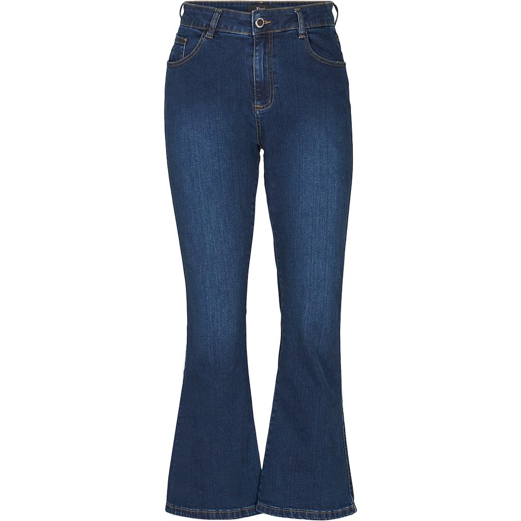 Zizzi Bootcut-Jeans, mit weitem Bein