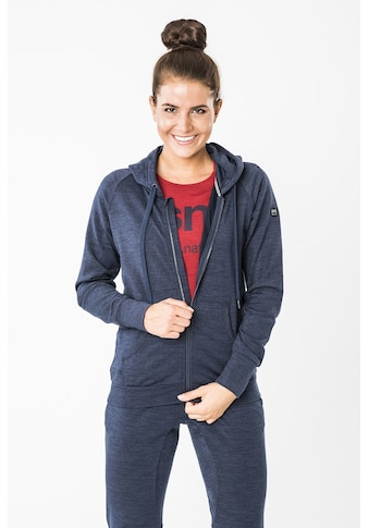 SUPER.NATURAL Kapuzensweatjacke »W ESSENTIAL ZIP HOODIE«, optimaler Merino-Materialmix kaufen