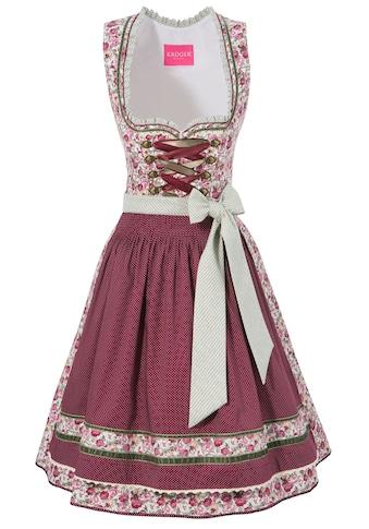 Krüger Madl Dirndl »Savannah«, (2 tlg.), kurz mit schönem Rosendessin kaufen