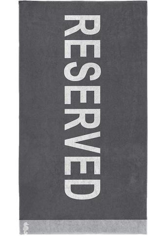 Seahorse Strandtuch »Reserved«, (1 St.), mit Schriftzug kaufen