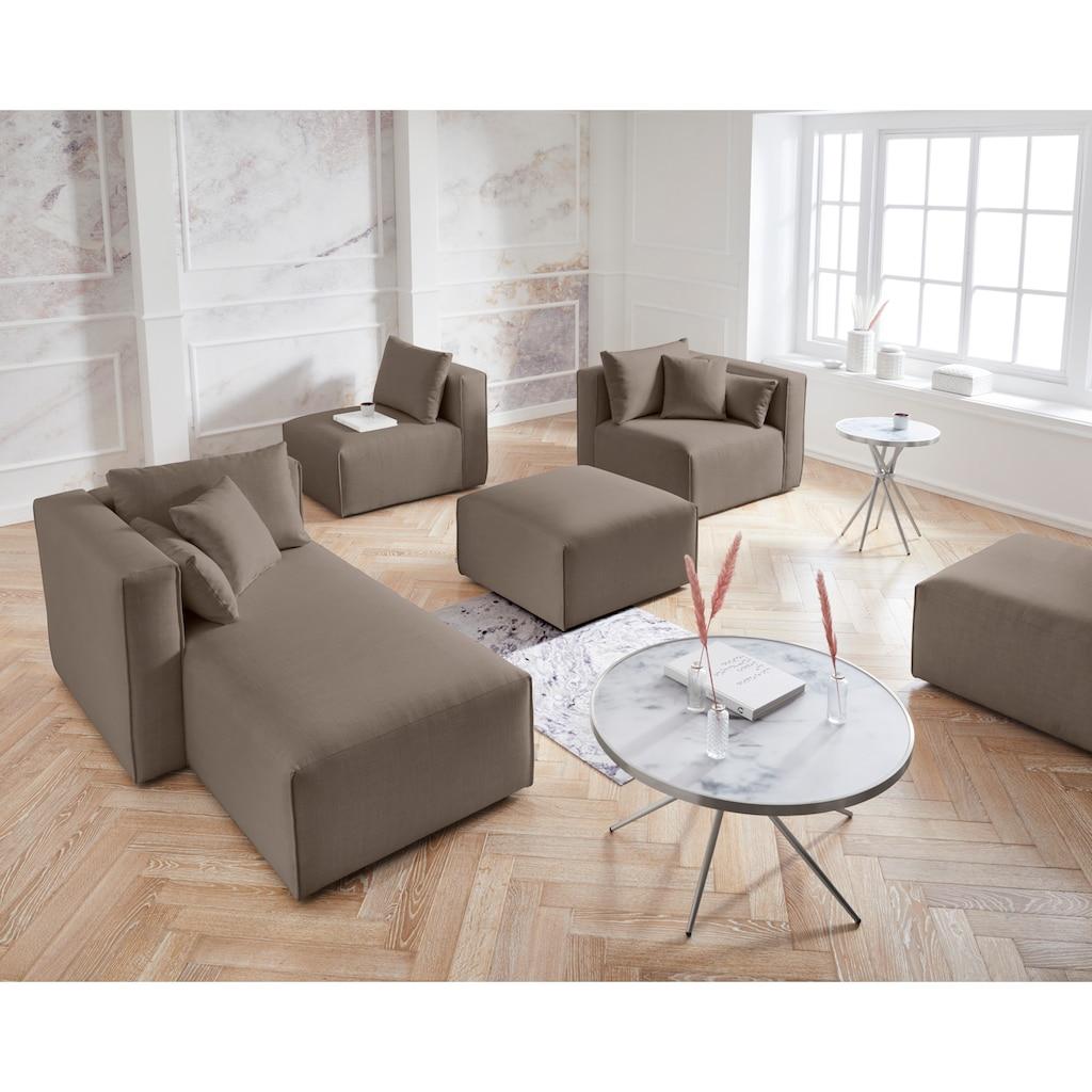Guido Maria Kretschmer Home&Living Hocker »Marble«, Modul-Hocker zur indiviuellen Zusammenstellung eines perfekten Sofas, in 3 Bezugsvarianten und vielen Farben