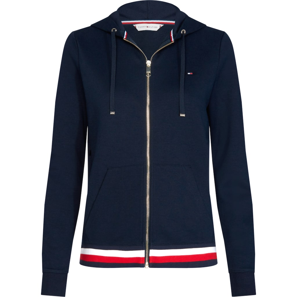 TOMMY HILFIGER Kapuzensweatjacke »HERITAGE ZIP-THROUGH HOODIE«