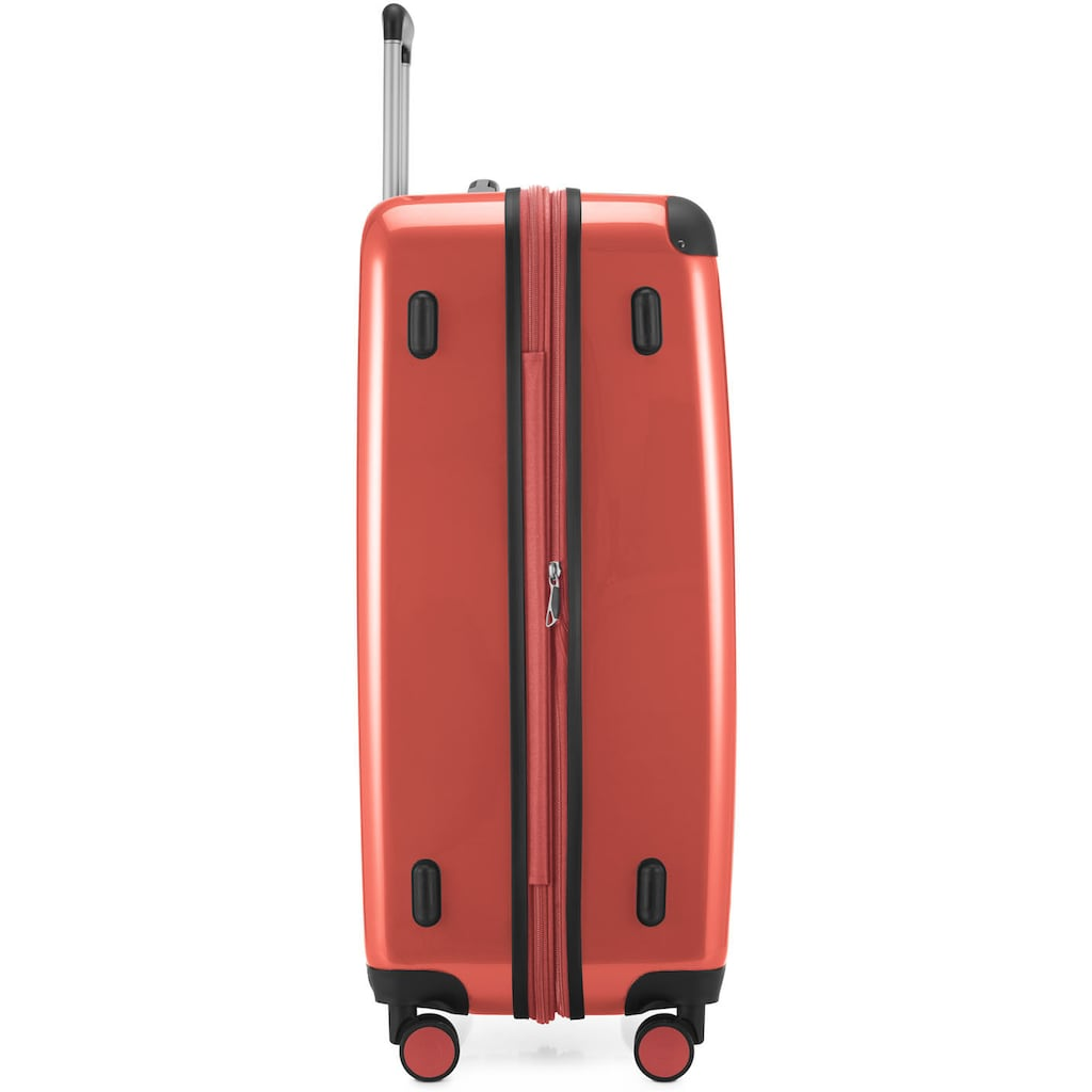 Hauptstadtkoffer Hartschalen-Trolley »Alex, 75 cm, Korall«, 4 Rollen