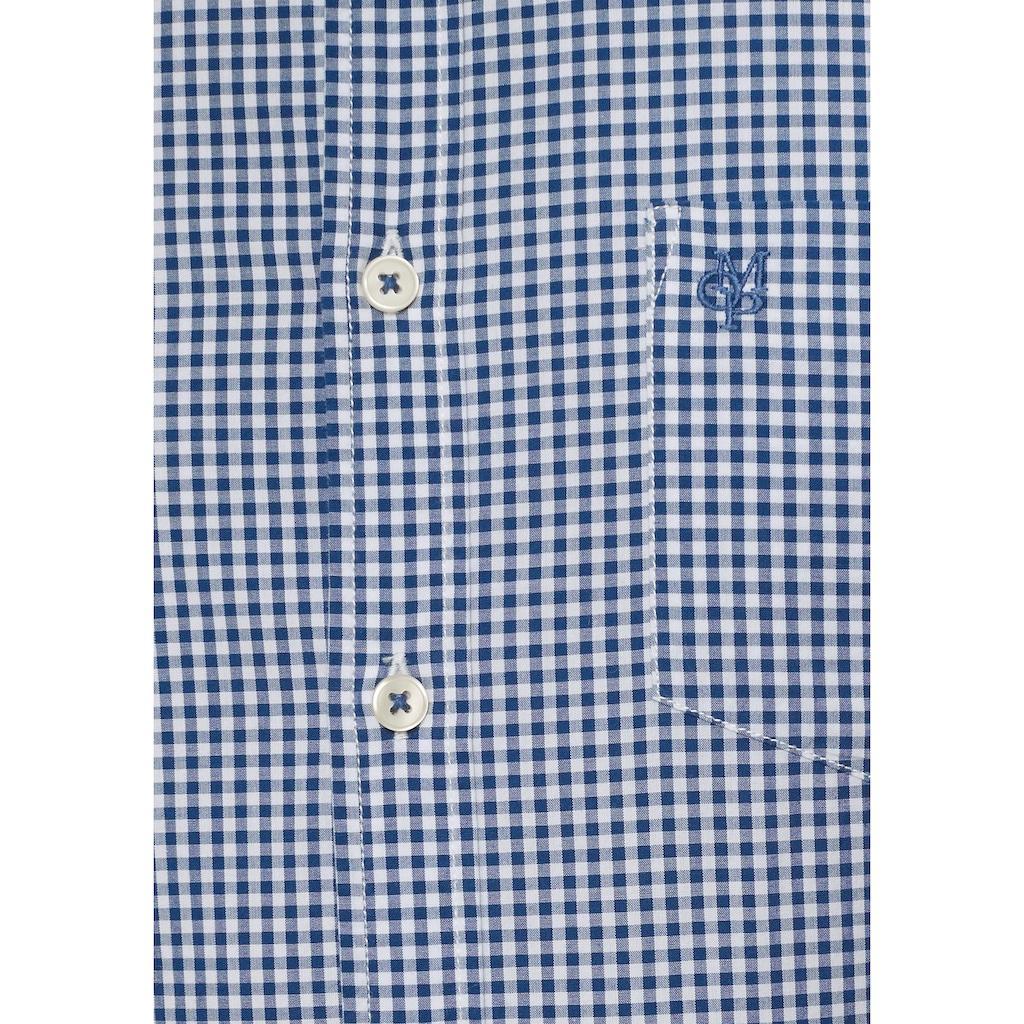 Marc O'Polo Langarmhemd, mit kleinem Karomuster