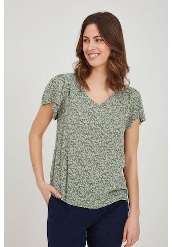 fransa Kurzarmbluse »Fransa Kurzarmbluse mit Muster«, Blusenshirt kaufen