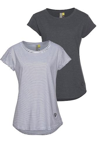 Alife & Kickin Rundhalsshirt »MimmyAK 2P« (Packung, 2 tlg.) kaufen