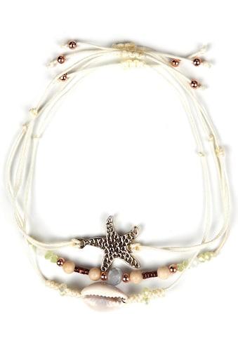 J.Jayz Armband Set »mit Muschel und Seestern«, (Set, 3 tlg.), mit Glassteinen kaufen