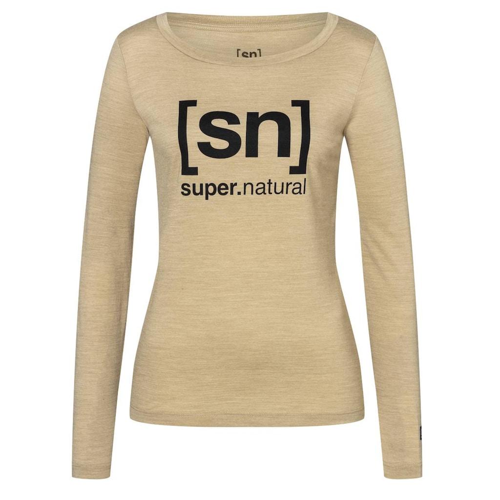 SUPER.NATURAL Longsleeve »W ESSENTIAL I.D. LS«, feinster Merino-Materialmix