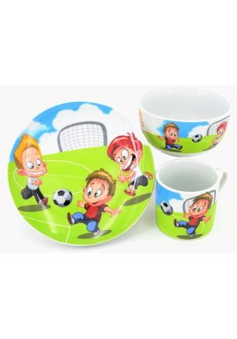 """Retsch Arzberg Kindergeschirr - Set """"Fussball"""" (3 - tlg.), Porzellan kaufen"""