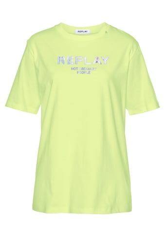 Replay Oversize-Shirt, mit Statement-Print kaufen