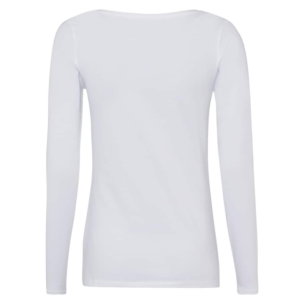 Esprit Langarmshirt, im unifarbenen Design