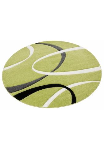 my home Teppich »Bilbao«, rund, 13 mm Höhe, mit handgearbeitetem Konturenschnitt,... kaufen