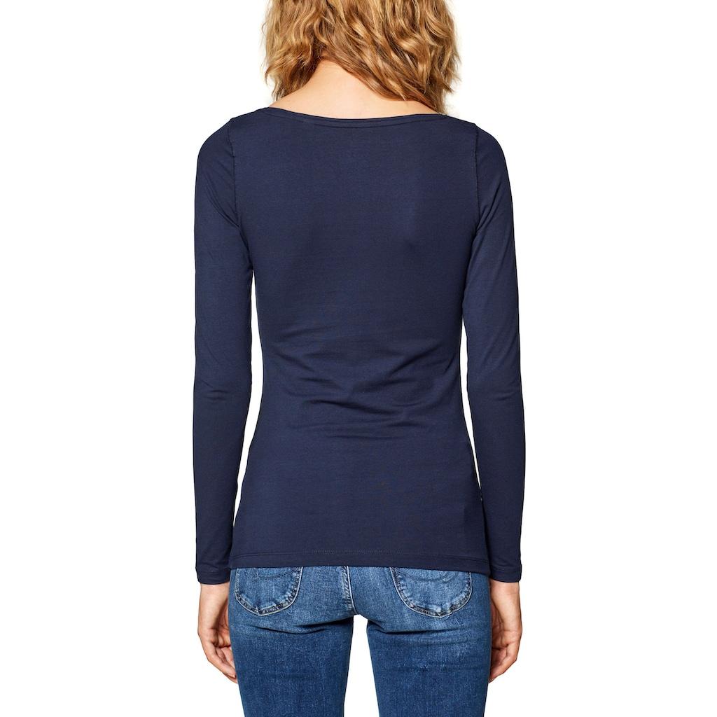 Esprit Langarmshirt, im Basic Look