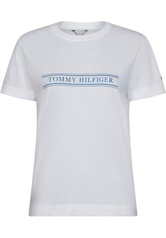 TOMMY HILFIGER Rundhalsshirt »VIOLET REGULAR C - NK TEE SS« kaufen