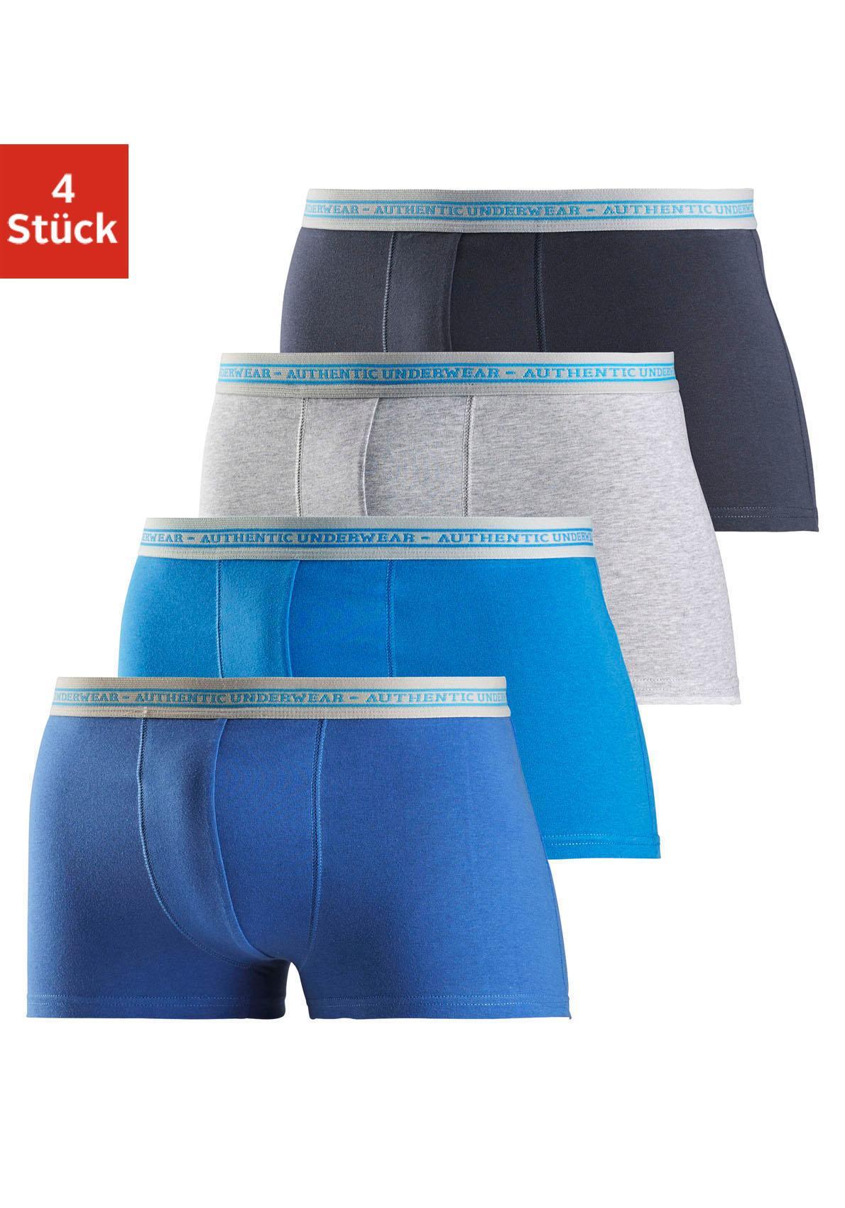 Image of Authentic Underwear, Baumwoll-Boxer (4 Stück), coole Boxer in tollen Farbpackungen