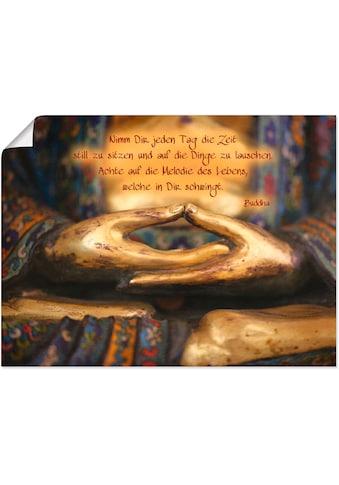 Artland Wandbild »Weisheit«, Religion, (1 St.), in vielen Grössen & Produktarten... kaufen