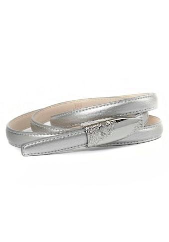 Anthoni Crown Ledergürtel, in schmaler Form mit filigraner Schliesse kaufen