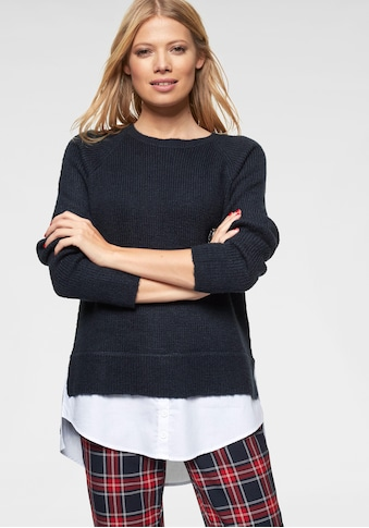 Aniston CASUAL 2-in-1-Pullover, mit Blusenansatz am Saum kaufen
