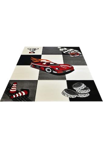 merinos Kinderteppich »Diamond Kids21833«, rechteckig, 13 mm Höhe, Rennwagen, Autos,... kaufen